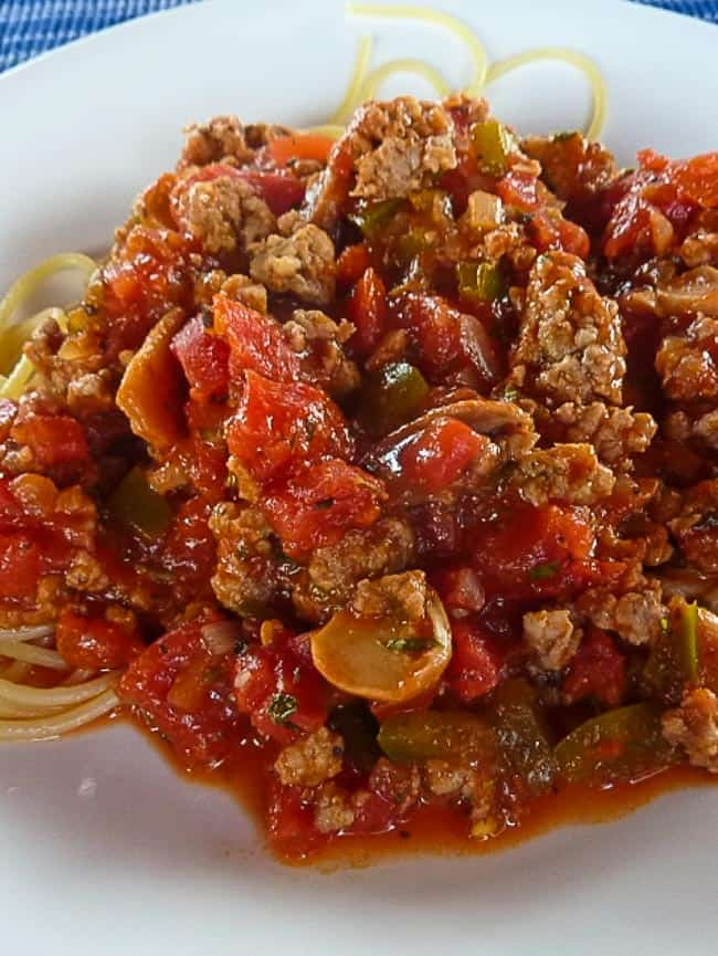 Cooked Italian sausage that's homemade in a bowl.