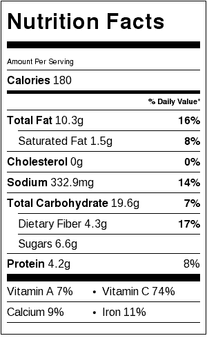 gazpacho nutrition label