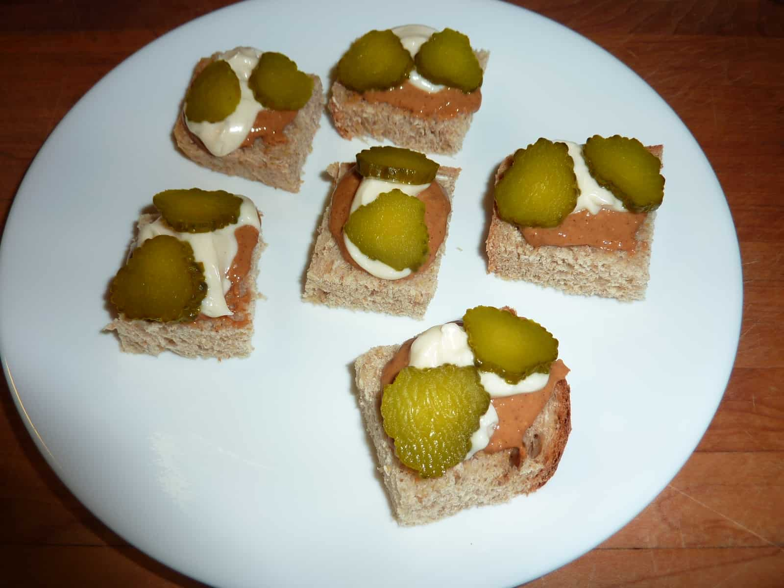 peanut butter pickle and mayonnaise sandwiches or appetizers. Black Bedroom Furniture Sets. Home Design Ideas