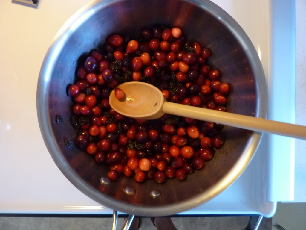 Cranberries, wine and spice