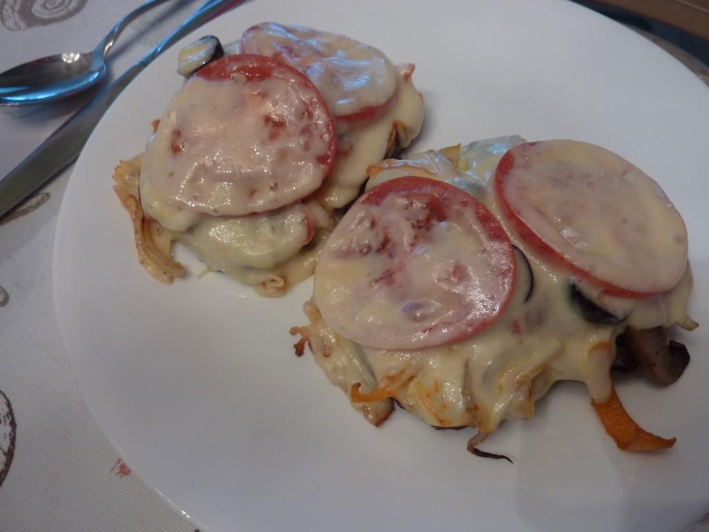 Open faced Vegetable Sandwich