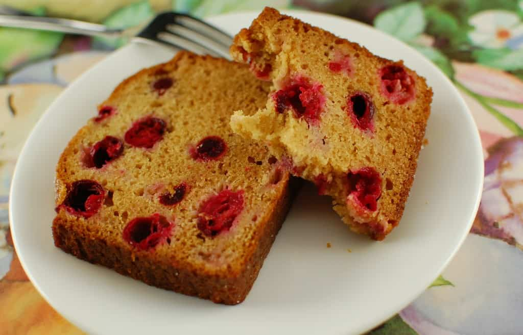 Cranberry Quick Bread slices are moist. | joeshealthymeals.com