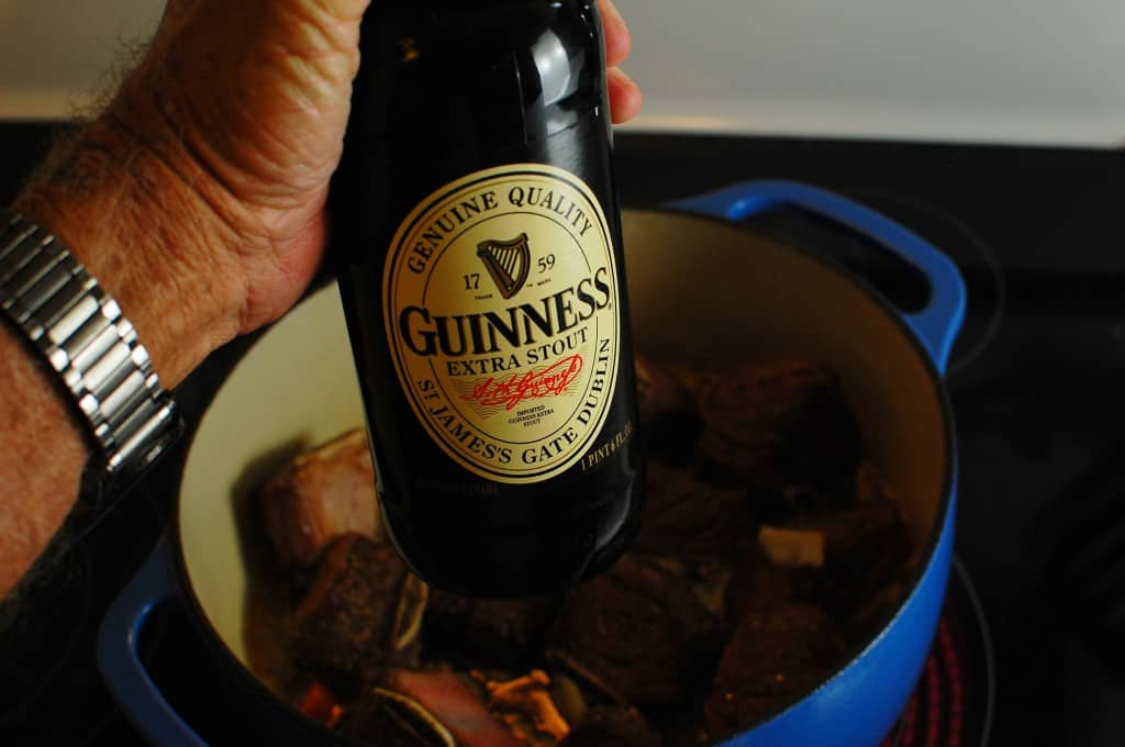 Braised beef short ribs which are cooked slowly in Guinness are mouthwateringly good. | joeshealthymeals.com