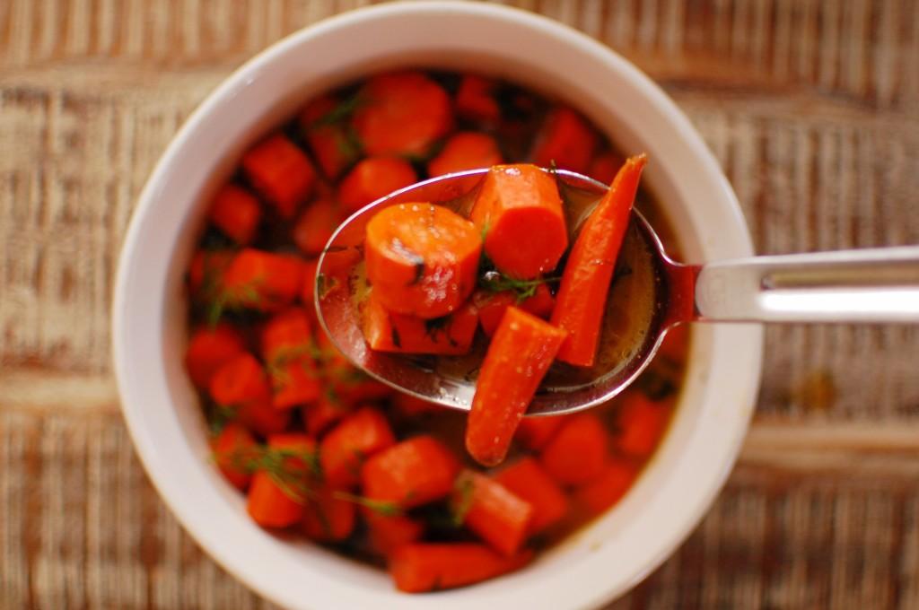 spoonful of Maple glazed carrots