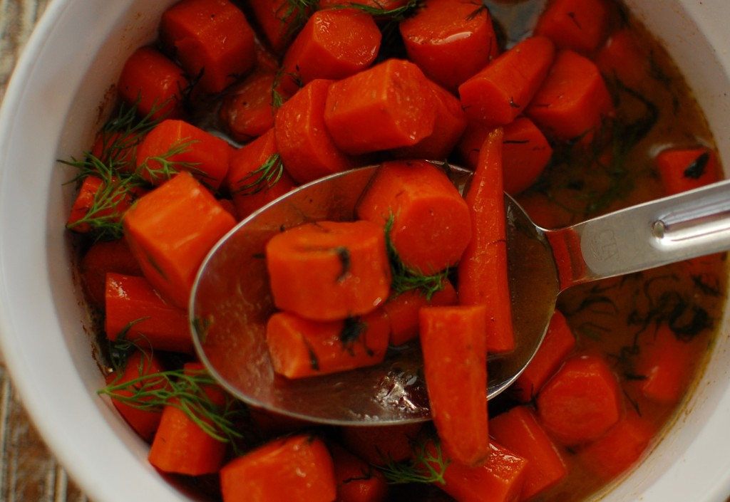 carrots in a spoon