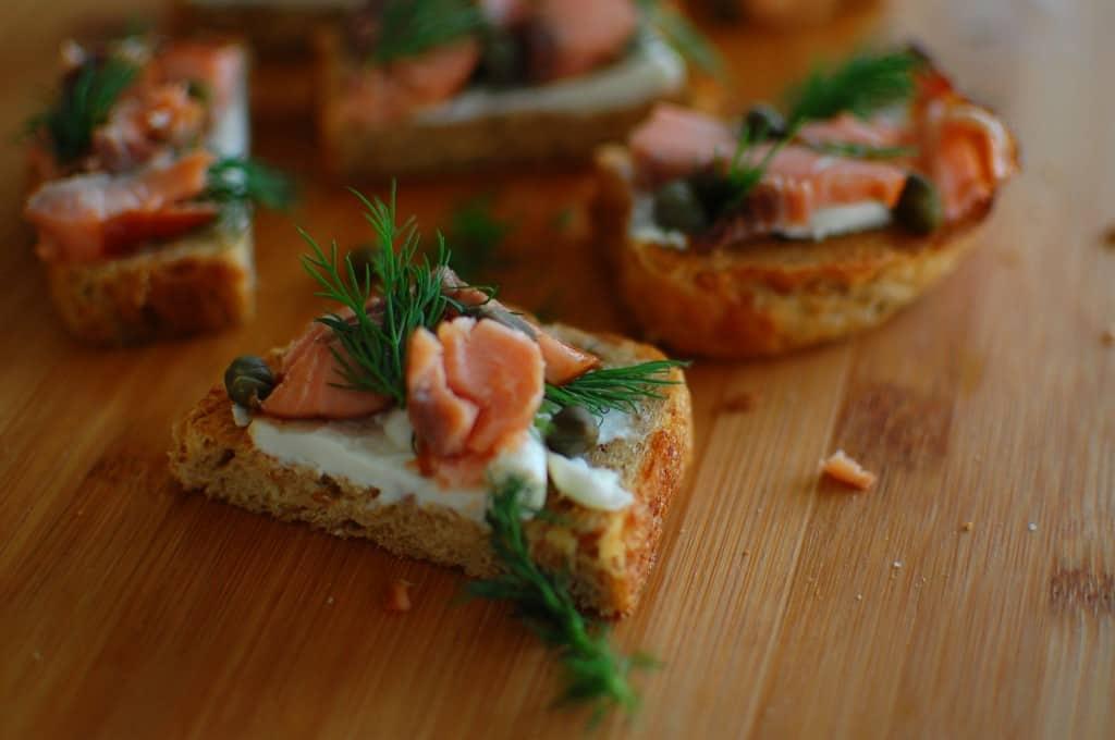 salmon canape 1