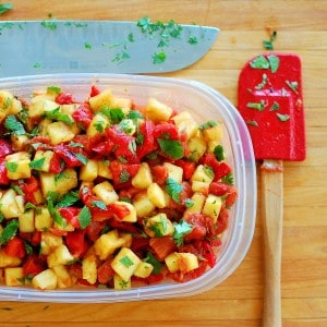 pinneapple and pepper salsa