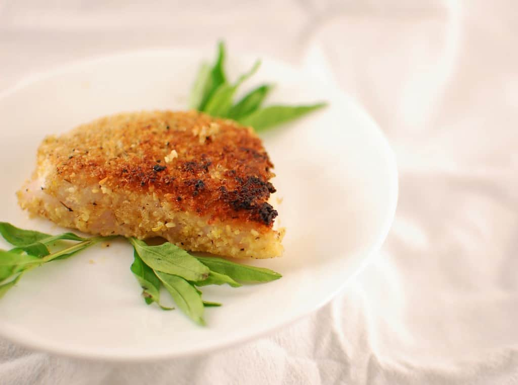 Pine nuts breaded fish