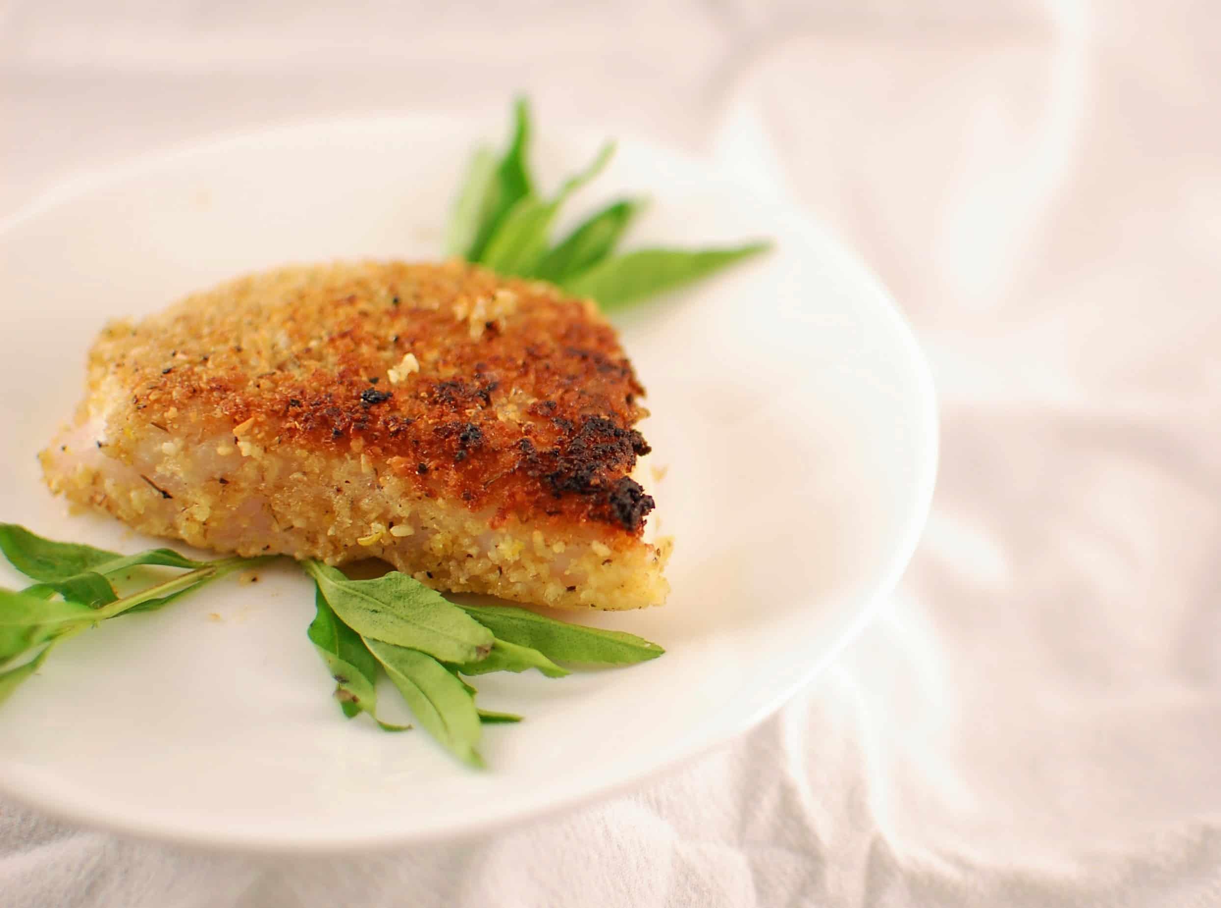 Pine nut breaded fish