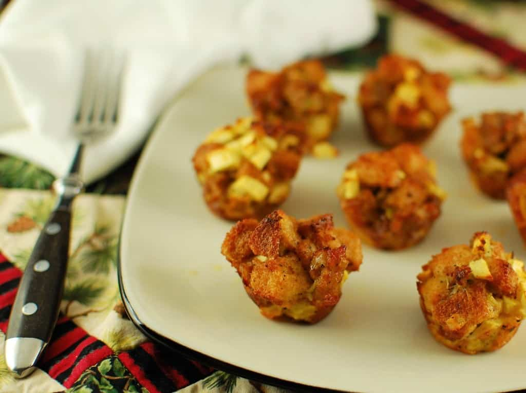 sausage and apple dressing bites
