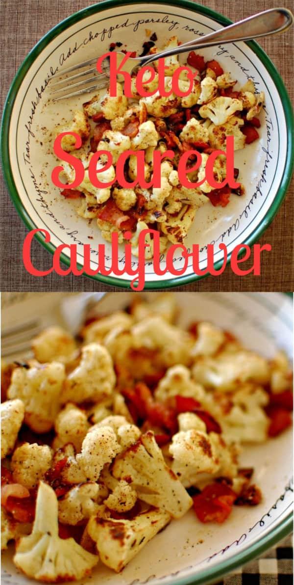 collage of pan seared cauliflower