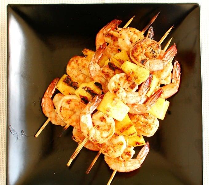 Sesame oil grilled shrimp