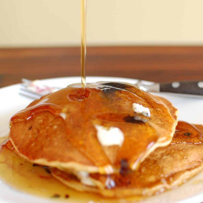 Whole grain pancake recipe. Mix up a big batch today.   joeshealthymeals.com