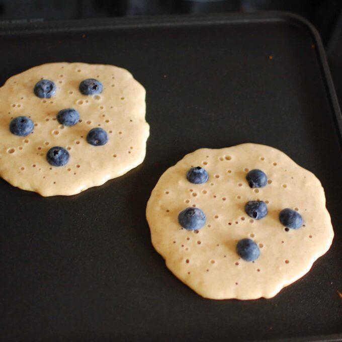 Whole grain pancake.   joeshealthymeals.com