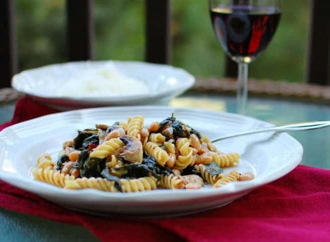 Easy Spinach Mushroom Pasta