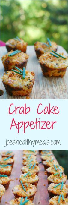 Crab cake appetizer | joeshealthymeals.com