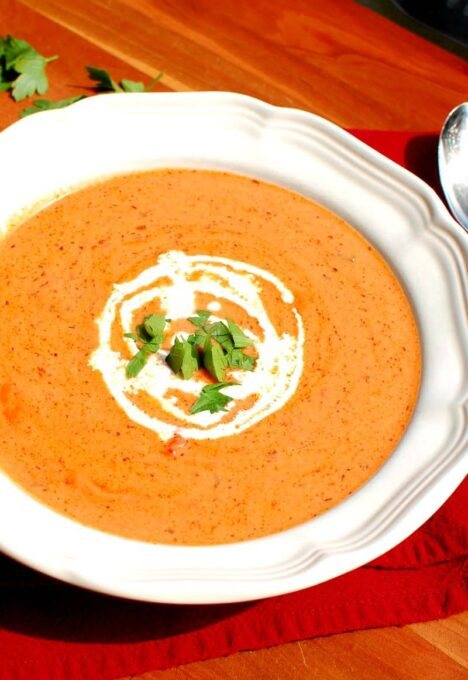 Homemade Tomato Bisque is delicious and easy to make. | joeshealthymeals.com