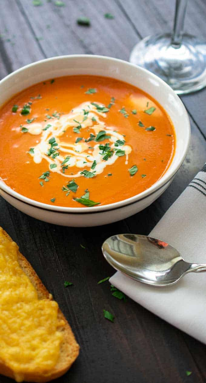 bowl of tomato bisque