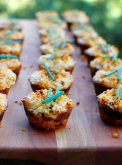 Mini crab cakes are delicious little appetizers. | joeshealthymeals.com