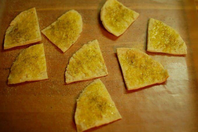 seasoned pita