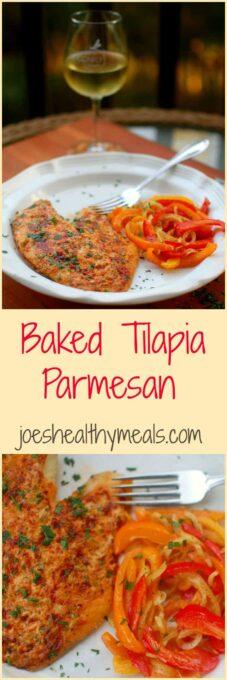 Baked Tilapia Parmesan   joeshealthymeals.com