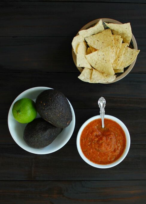 Homemade Spicy Salsa Roja - this is delicious and so easy to make. Try some for your next party!   joeshealthymeals.com
