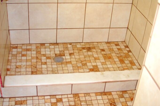 Grouted tile
