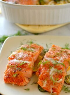 Slow baked dill and citrus salmon. The moistest and most yummy salmon you have ever had!   joeshealthymeals.com