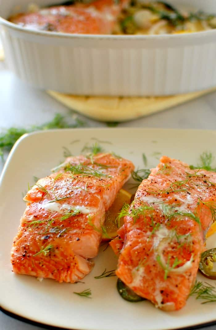 Slow Baked Dill and Citrus Salmon