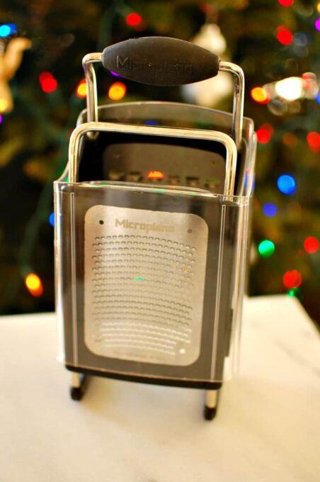 Microplane box grater. | joeshealthymeals.com