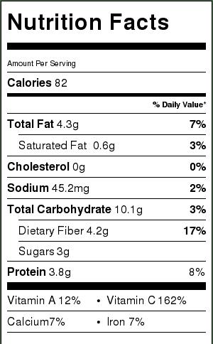 recipe nutrition label