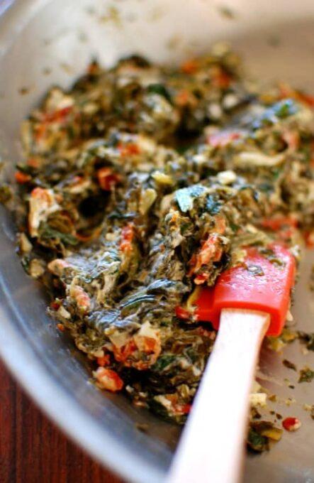 Broiled spinach stuffed pork chops. | joeshealthymeals.com