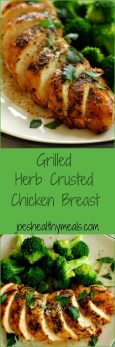 Grilled Herb Crusted Chicken Breast