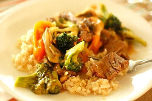 Orange beef stir fry. Delicious recipe that is hot and sweet and totally satisfying. | joeshealthymeals.com