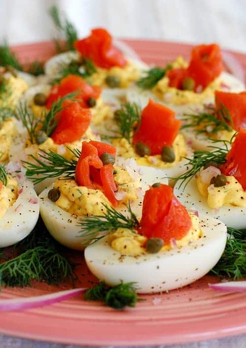 Lox Deviled Eggs