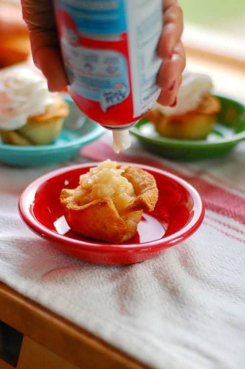 Applesauce pineapple reddi whip. Tasty, simple to make dessert that everyone will love.   joeshealthymeals.com