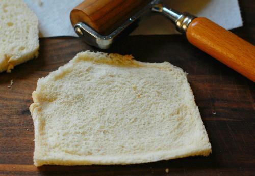 rolling the bread