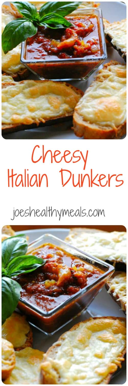 Cheesy Italian Dunkers. Great main dish or appetizer. Fast and simple. Have it with some fresh fruit on the side.   joeshealthymeals.com