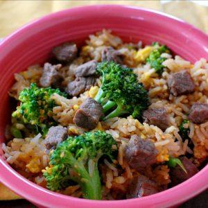 Classic beef fried rice recipe.   joeshealthymeals.com
