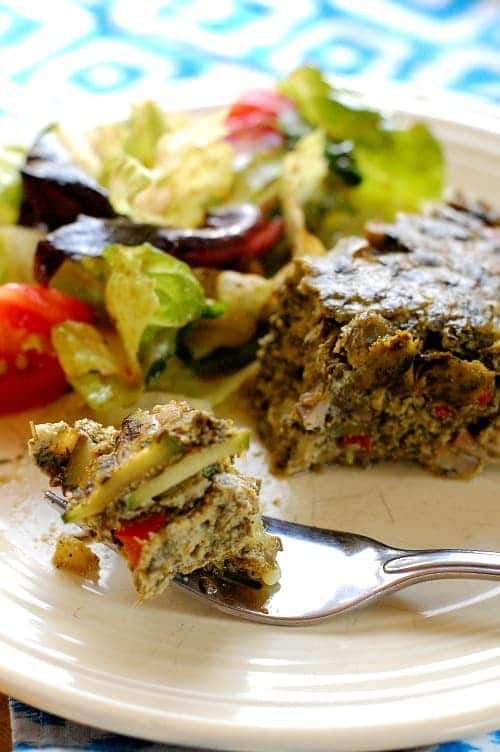 Healthy No Crust Vegetable Quiche