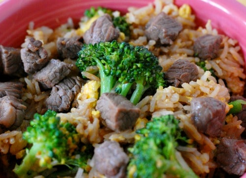Classic beef fried rice recipe. Simple recipe to make delicious beef fried rice. | joeshealthymeals.com