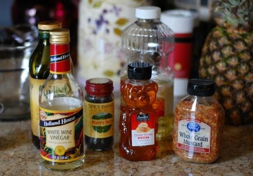 Poppy seed dressing ingredients. | joeshealthymeals.com