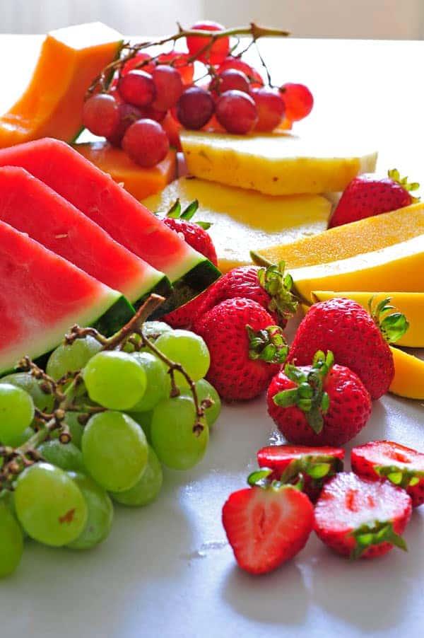 Fresh fruit on a table