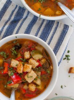 Fresh vegetable Provencal soup