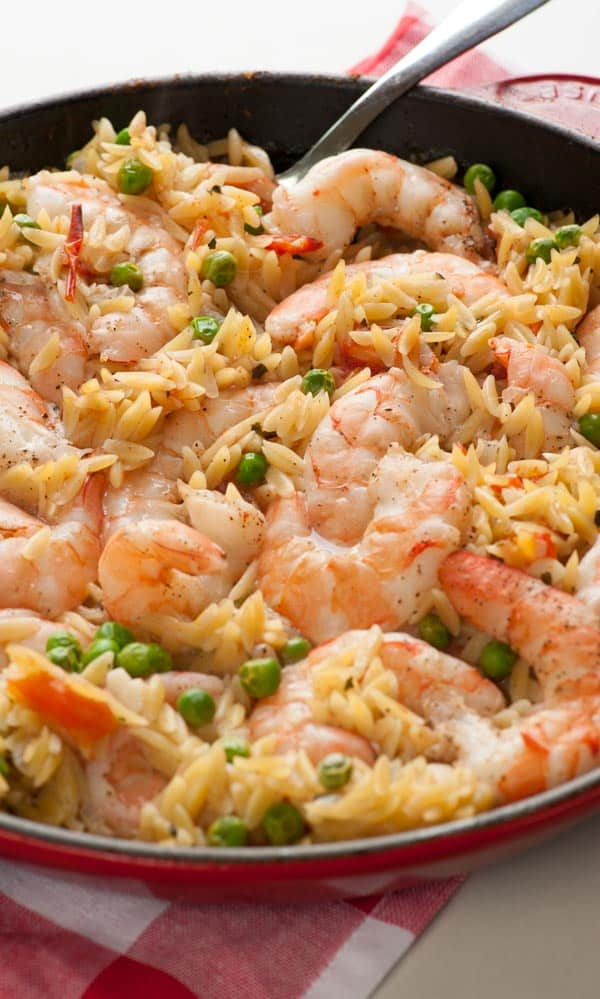 One Pan Orzo Shrimp and Tomatoes | Joe's Healthy Meals