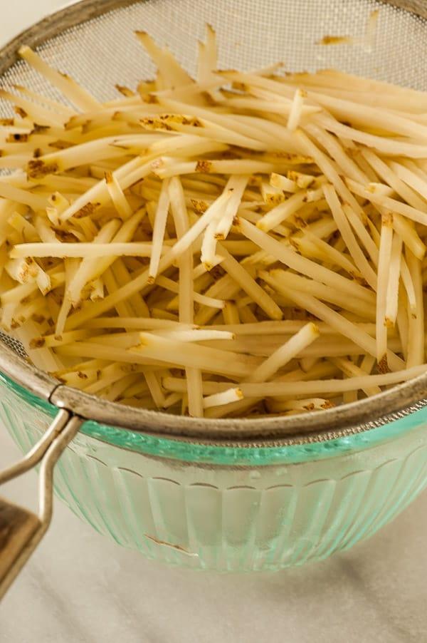 Shredded potatoes.   joeshealthymeals.com