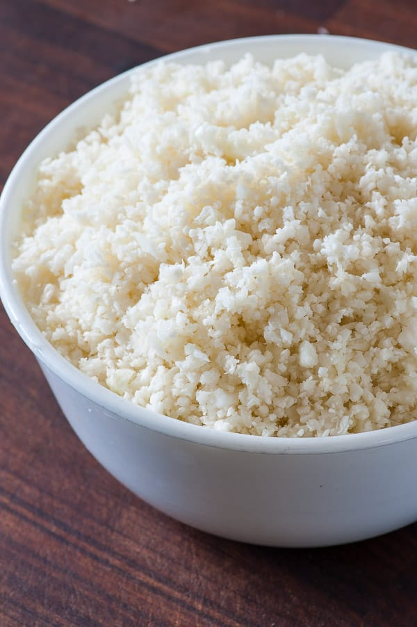 Raw cauliflower. Low calorie, satisfying side dish recipe. | joeshealthymeals.com