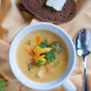 Vegetarian Broccoli Cheddar Cheese Soup