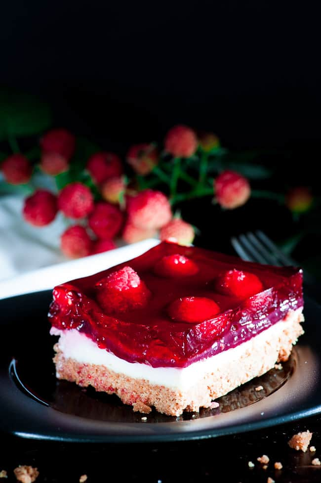 Raspberry cream cheese dessert. Tasty dessert for any summertime picnic.   joeshealthymeals.com