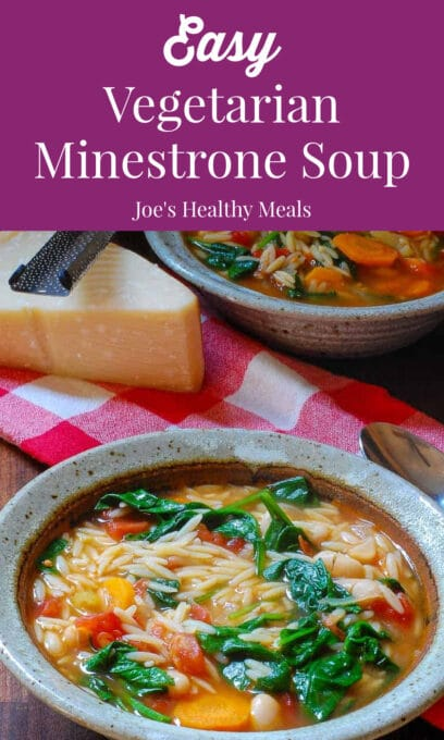 minestrone soup collage